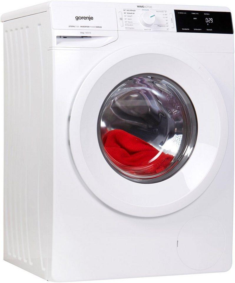 GORENJE Waschmaschine WEI 863 P, 8 kg, 1600 U/Min