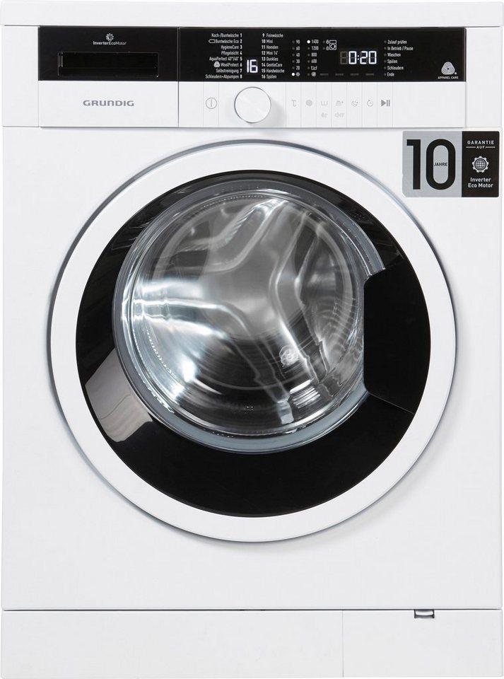 Grundig Waschmaschine GWO 37430 WB, 7 kg, 1400 U/Min