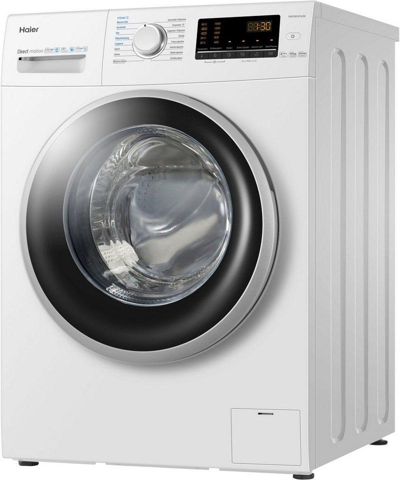 Haier Waschmaschine HW100-B1439, 10 kg, 1400 U/Min