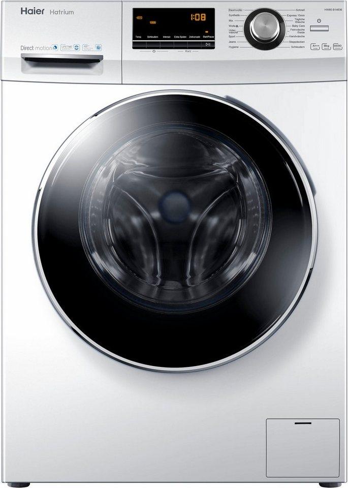Haier Waschmaschine HW80-B14636, 8 kg, 1400 U/Min
