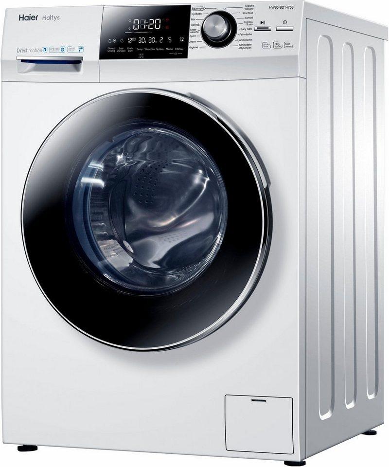 Haier Waschmaschine HW80-BD14756, 8 kg, 1400 U/Min