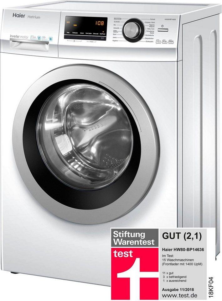 Haier Waschmaschine HW80-BP14636, 8 kg, 1400 U/Min