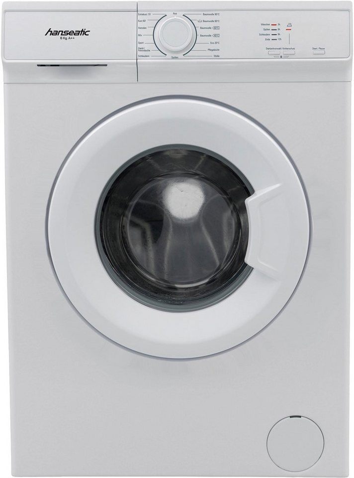 Hanseatic Waschmaschine HWM 610 A2, 6 kg, 1000 U/Min