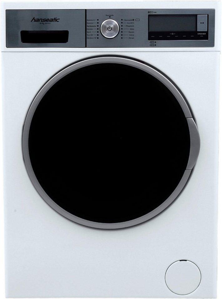 Hanseatic Waschmaschine HWM 914 A3D, 9 kg, 1400 U/Min