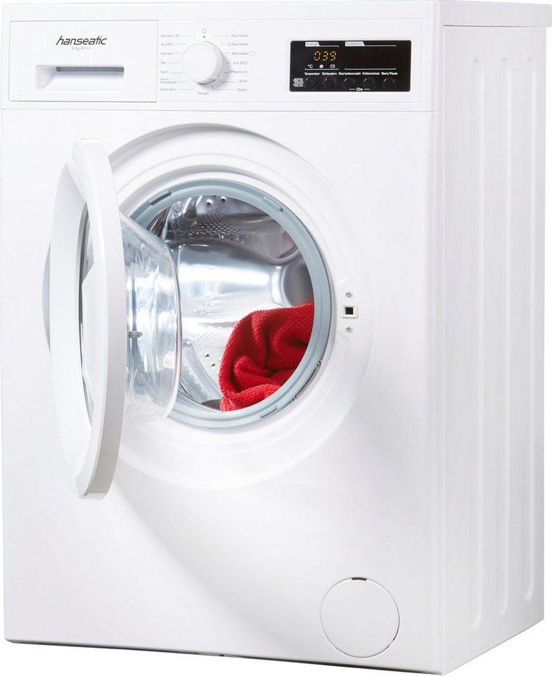 Hanseatic Waschmaschine HWM614A3, 6 kg, 1400 U/Min