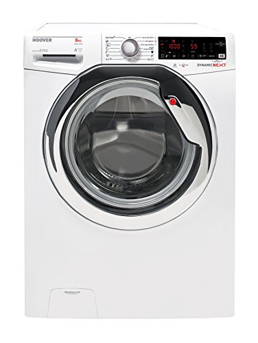 Hoover DXOA 4438 AHC3 Waschmaschine Frontlader/A+++/1300UpM/kg/Dampf-Funktion zur Auffrischung und Faltenreduktion/App-steuerbar dank NFC-Technologie/weiß