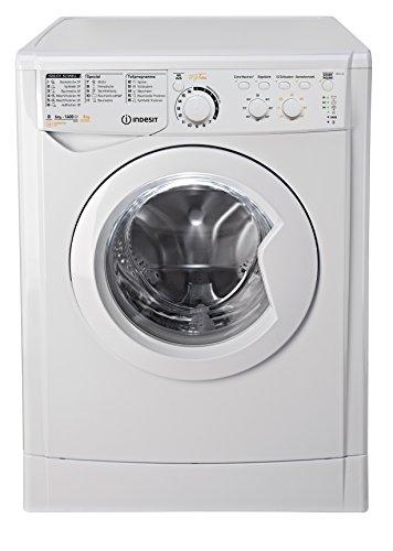 Indesit EWDC 6145 W DE Waschtrockner / 972 kWh / kg / MyTime: Täglich-Schnell-Programme unter 1 Stunde / Aquastopp / weiß
