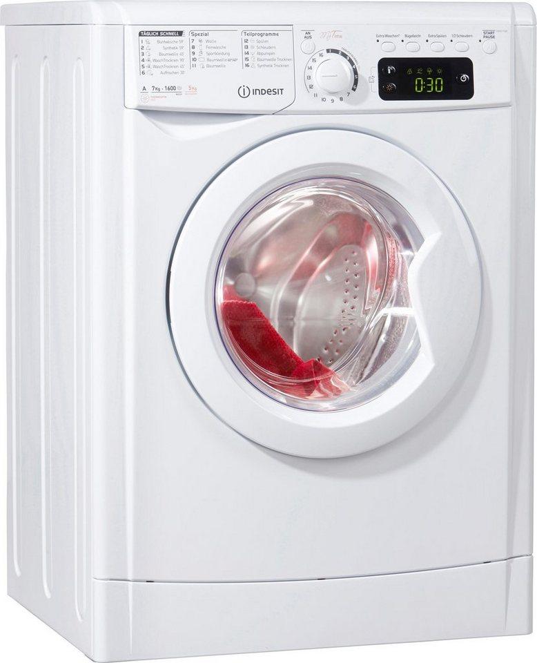 Indesit Waschtrockner EWDE 71680, 7 kg/5 kg, 1600 U/Min