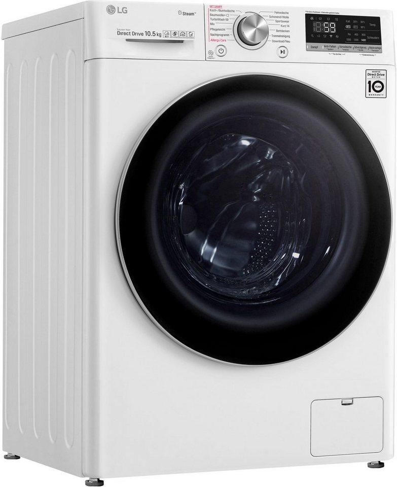 LG Waschmaschine 7 F4 WV 710P1, 10,5 kg, 1400 U/Min