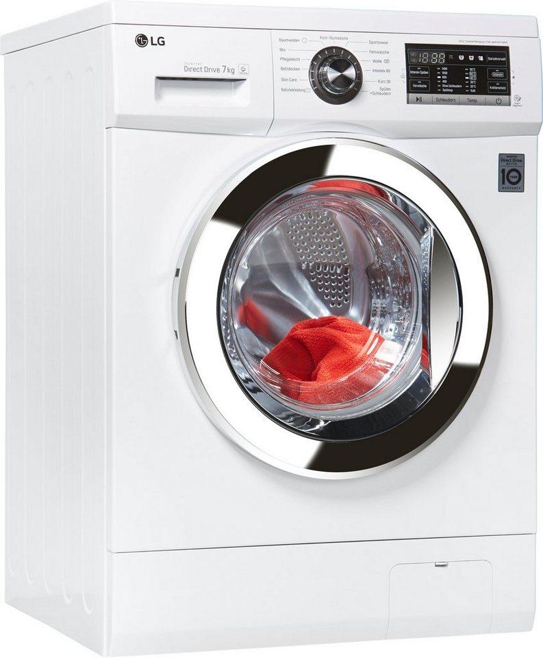 LG Waschmaschine F1496QD3HT, 7 kg, 1400 U/Min, unterbaufähig