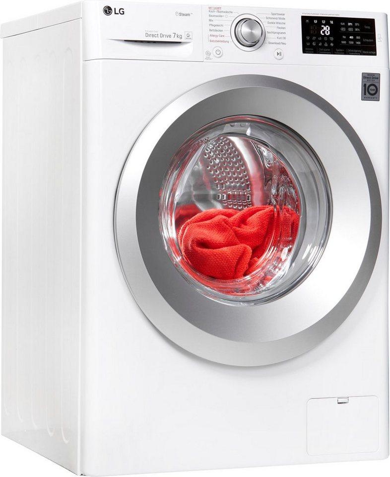 LG Waschmaschine F14WM7KS1, 7 kg, 1400 U/Min, Dampffunktion