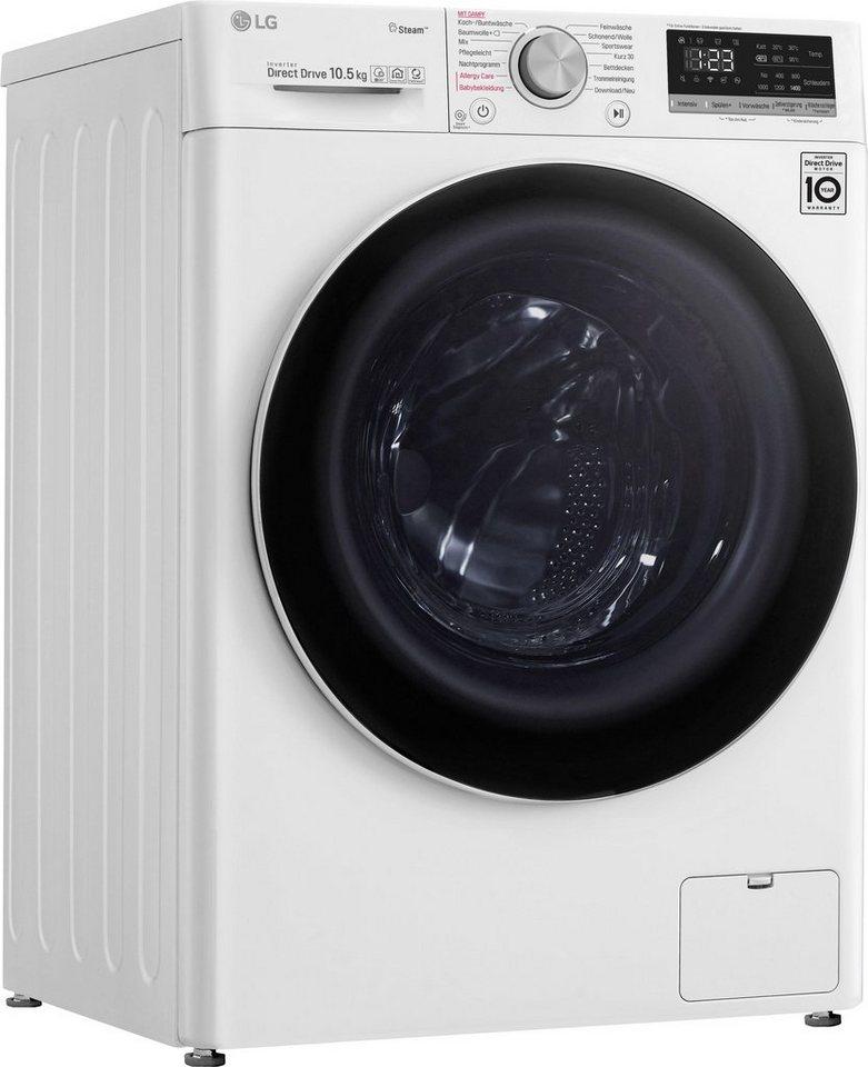 LG Waschmaschine F4WV510S0, 10,5 kg, 1400 U/Min, mit Aqua Lock™ und WiFi