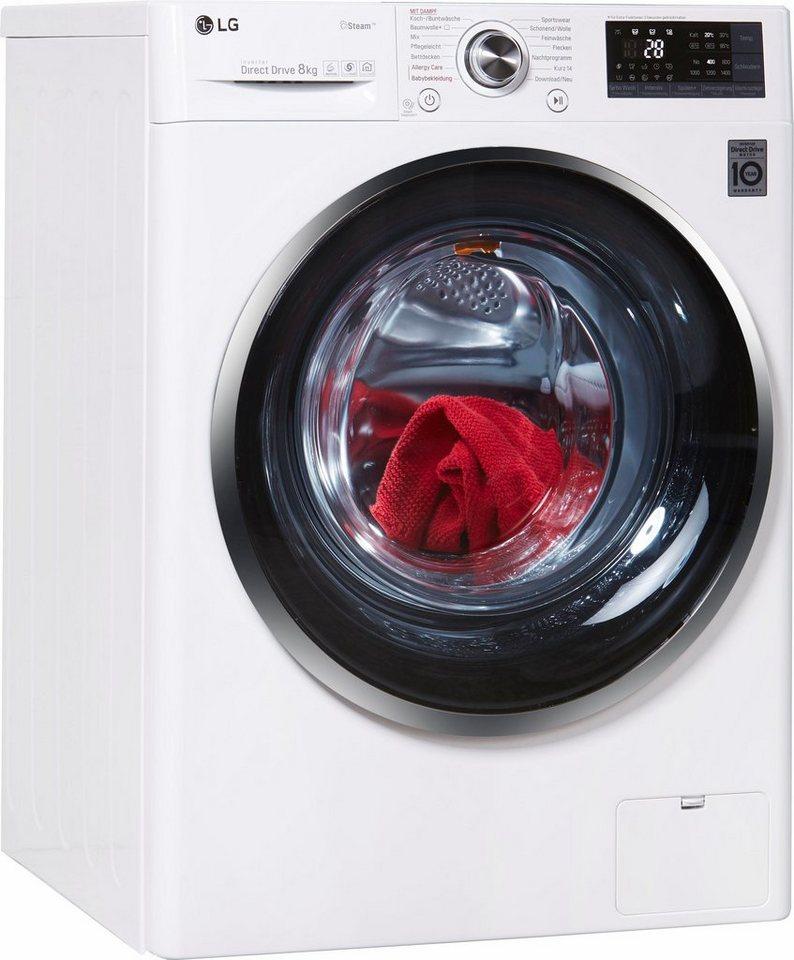 LG Waschmaschine Hygiene Care F 14WM 8TS2, 8 kg, 1400 U/Min