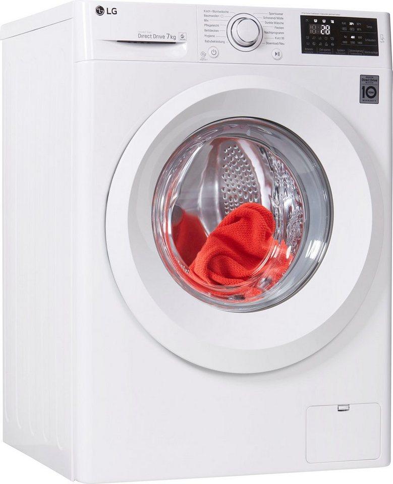 LG Waschmaschine Serie 3 F 14WM 7LN0, 7 kg, 1400 U/Min