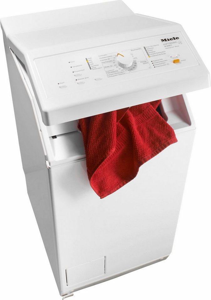 Miele Waschmaschine Toplader W 668 F WPM, 6 kg, 1200 U/Min