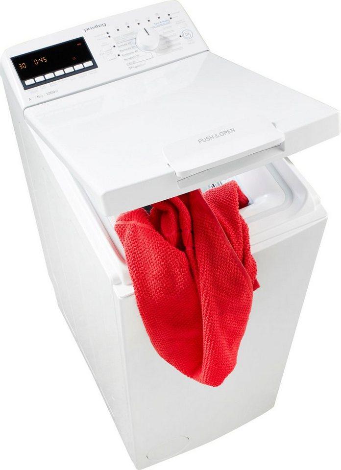 Privileg Family Edition Waschmaschine Toplader PWT E612531P, 6 kg, 1200 U/Min, 50 Monate Herstellergarantie