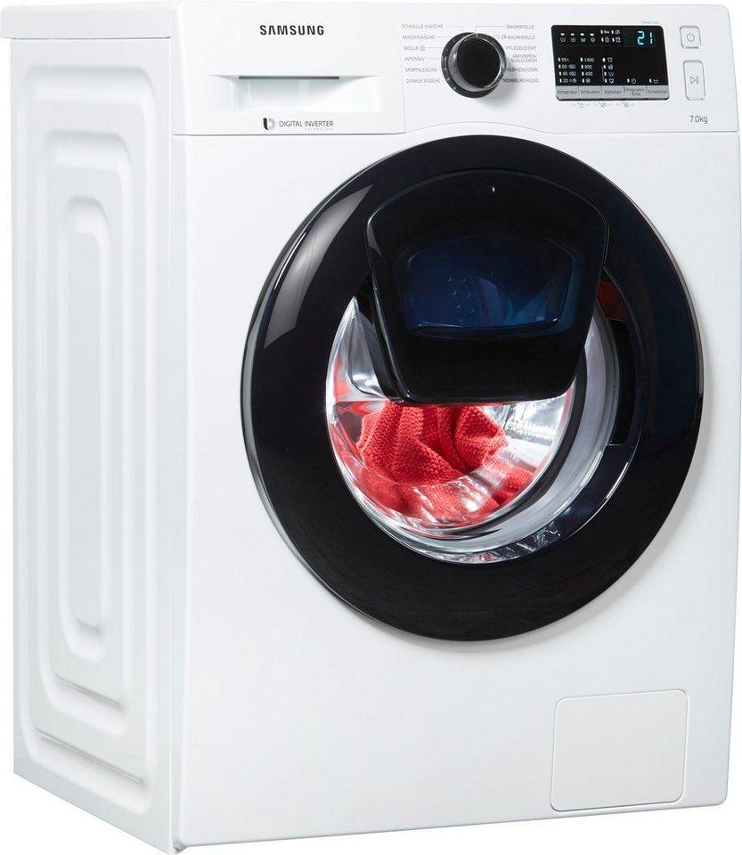 Samsung Waschmaschine AddWash W4500 WW7EK44205W/EG, 7 kg, 1400 U/Min