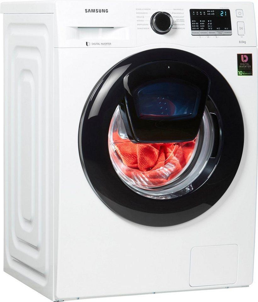 Samsung Waschmaschine AddWash WW4500 WW8EK44205W/EG AddWash, 8 kg, 1400 U/Min