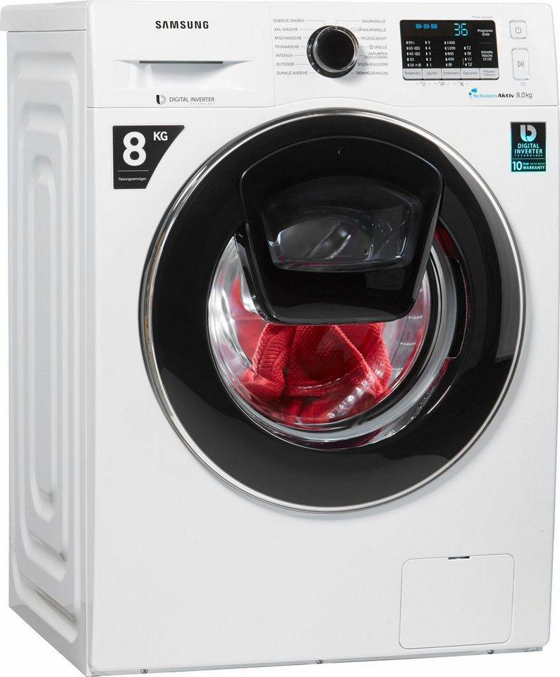 Samsung Waschmaschine AddWash WW5500 WW80K5400UW/EG, 8 kg, 1400 U/Min