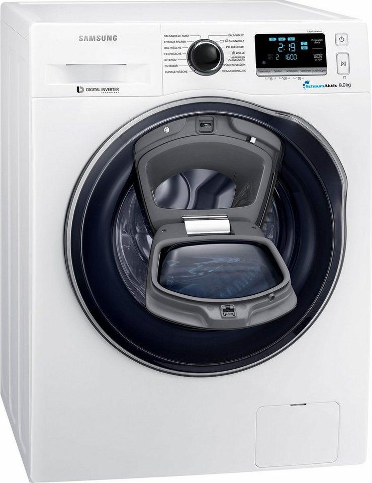 Samsung Waschmaschine AddWash WW6400 WW8GK6400QW/EG, 8 kg, 1400 U/Min