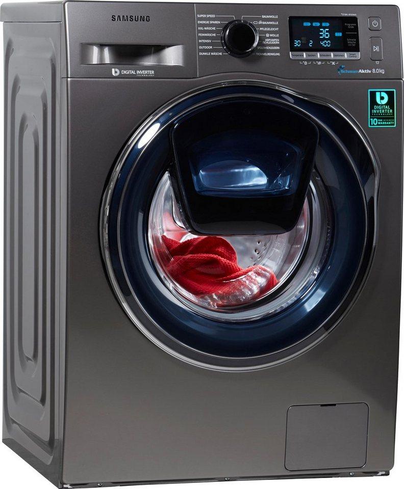 Samsung Waschmaschine AddWash WW6500 WW80K6404QX/EG, 8 kg, 1400 U/Min
