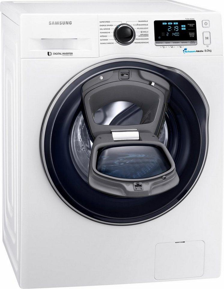 Samsung Waschmaschine AddWash WW6500 WW8EK6404QW/EG, 8 kg, 1400 U/Min