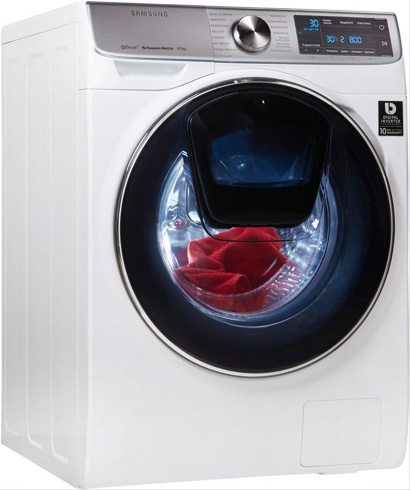 Samsung Waschmaschine QuickDrive WW7800 WW91M760NOA/EG, 9 kg, 1600 U/Min, AddWash