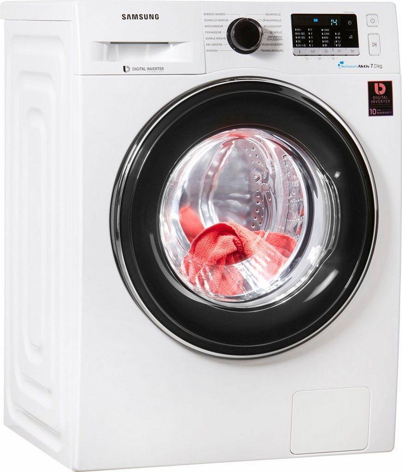Samsung Waschmaschine WW5000 WW7EJ5435EW/EG, 7 kg, 1400 U/Min, SchaumAktiv