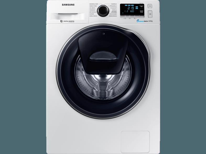 SAMSUNG WW8HK6400QW/EG Waschmaschine (8 kg, 1400 U/Min., A+++)