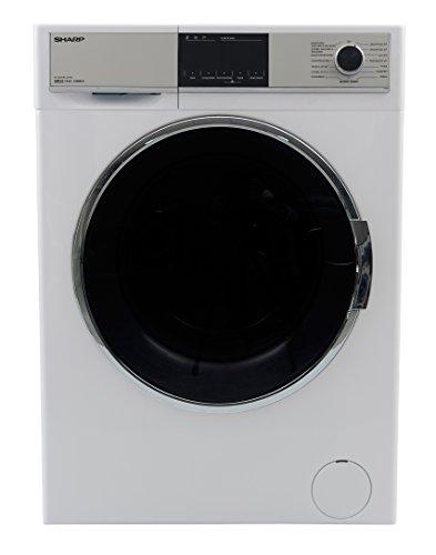 Sharp ES-HDH9147W0-DE Waschtrockner / Waschen 9 kg / Trocknen 6 kg / 1400 U/min. / 15 Programme inkl. 12 Min. Programm / Startzeitvorwahl / BubbleDrum - Schontrommel / Antibakterielles Material / weiß