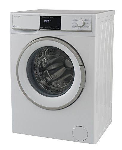 Sharp ES-HFB7164W3-DE Waschmaschine Frontlader / A+++ / 7 kg / 1600 U/min. / 15 Programme / BubbleDrum-Schontrommel / 15 Min. Kurzprogramm / Startzeitvorwahl / AquaStop / Kindersicherung / weiß