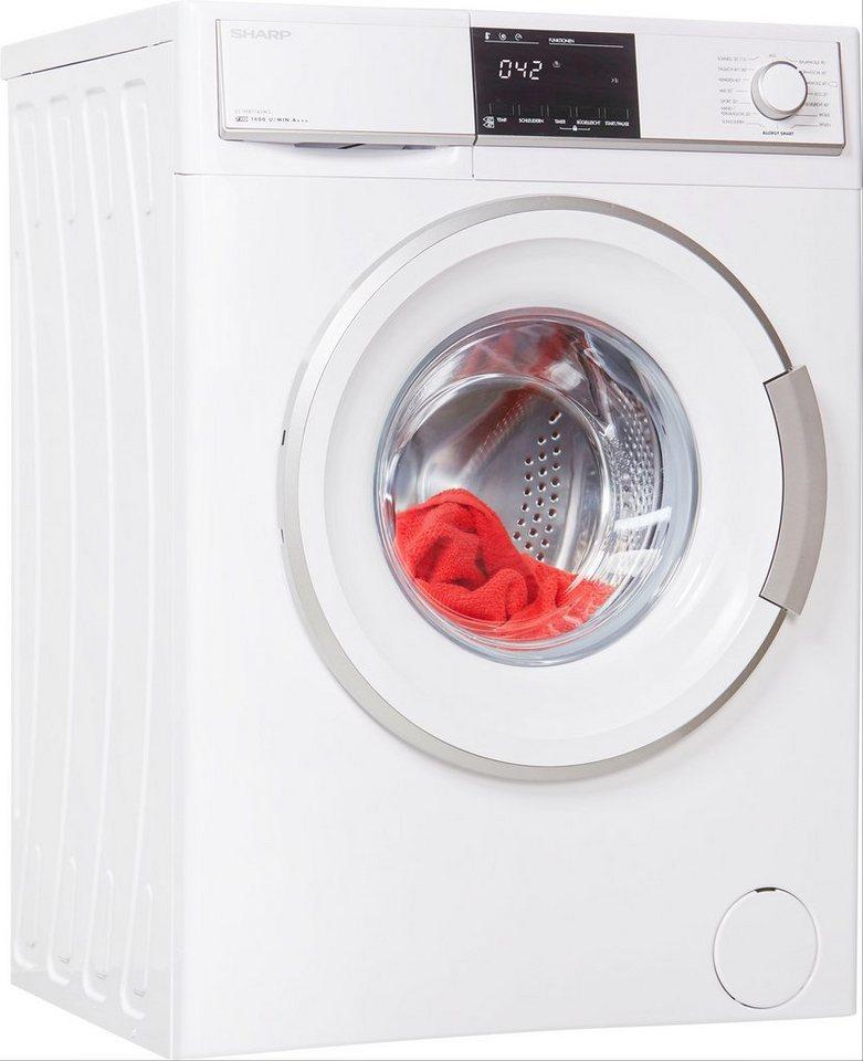 Sharp Waschmaschine ES-HFB7143W3-DE, 7 kg, 1400 U/Min