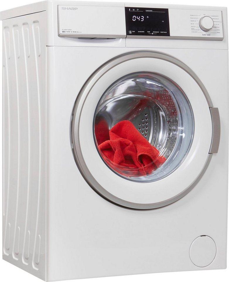 Sharp Waschmaschine ES-HFB7164W3-DE, 7 kg, 1600 U/Min