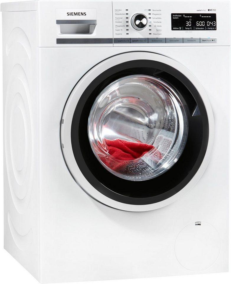 SIEMENS Waschmaschine IQ 700 WM16W5ECO, 9 kg, 1600 U/Min, inkl. 4 Jahre Garantie
