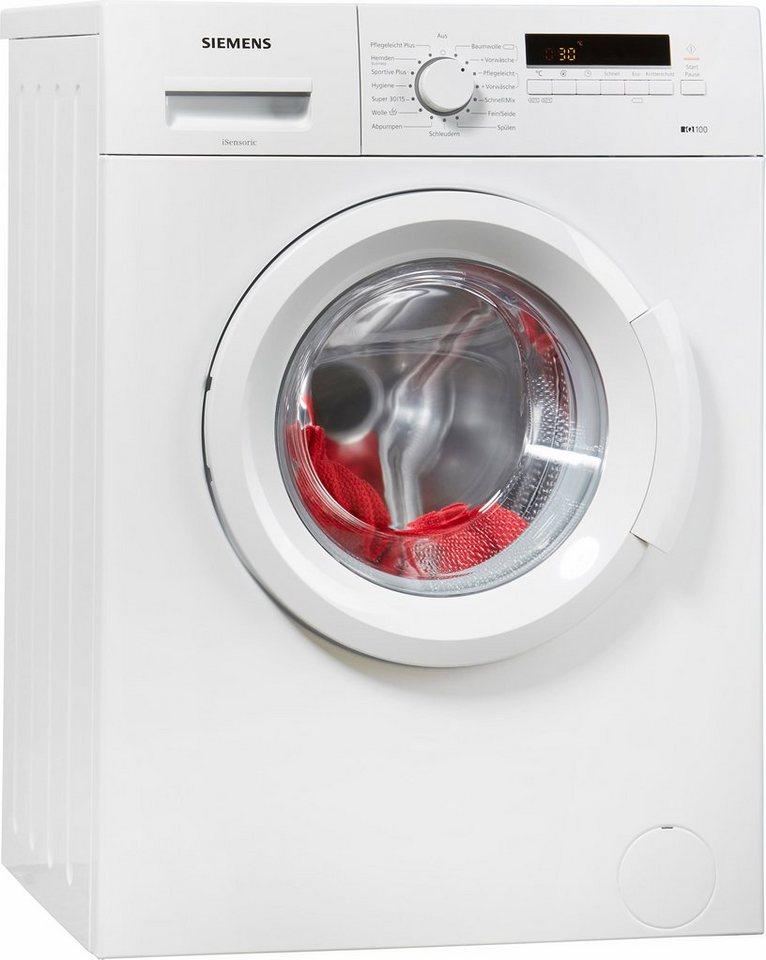 SIEMENS Waschmaschine iQ100 WM14B222, 6 kg, 1400 U/Min
