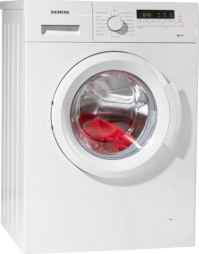 SIEMENS Waschmaschine iQ100 WM14B2ECO, 6 kg, 1400 U/Min