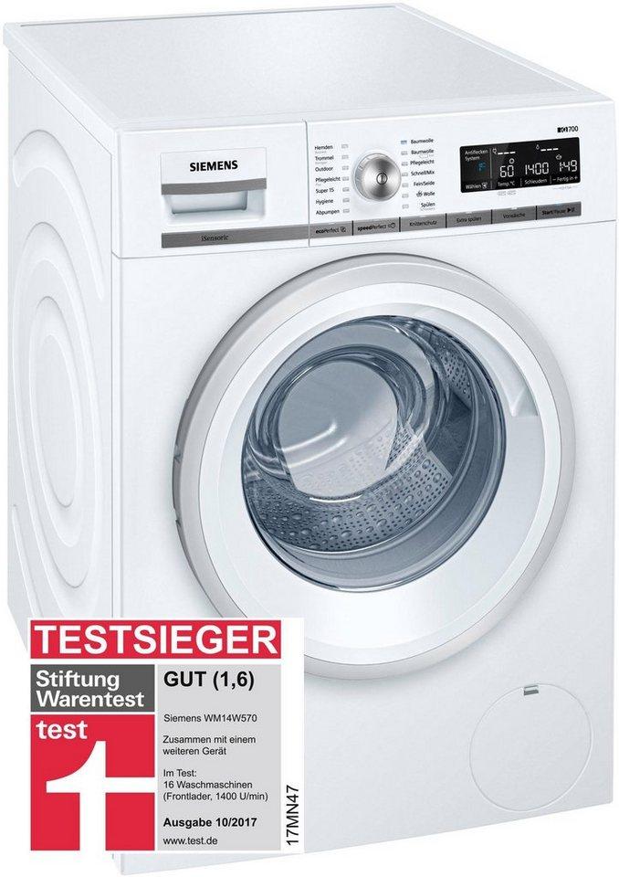 SIEMENS Waschmaschine iQ700 WM14W570, 8 kg, 1400 U/Min