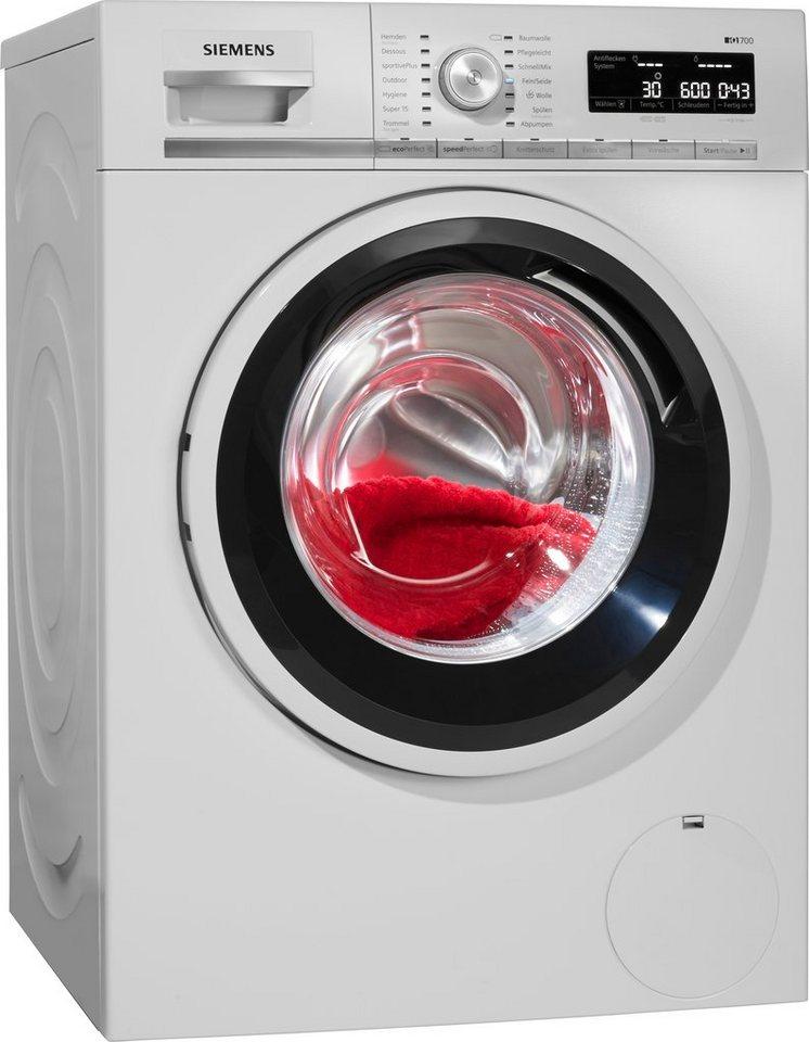 SIEMENS Waschmaschine iQ700 WM14W5ECO, 8 kg, 1400 U/Min