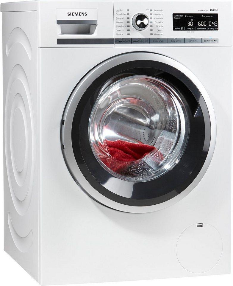 SIEMENS Waschmaschine iQ700 WM16W540, 8 kg, 1600 U/Min