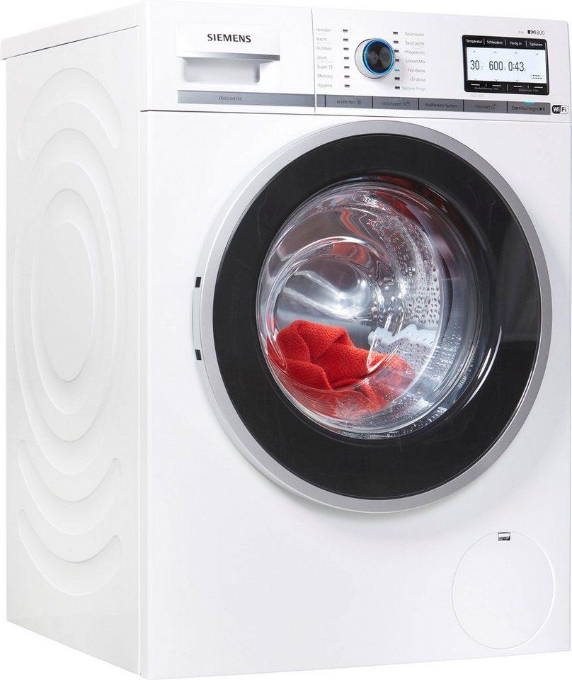 SIEMENS Waschmaschine iQ800 WM4YH748, 8 kg, 1400 U/Min