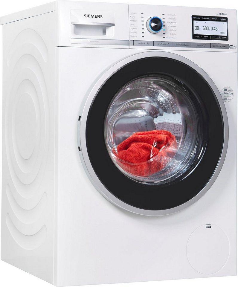 SIEMENS Waschmaschine iQ800 WM4YH749, 9 kg, 1400 U/Min