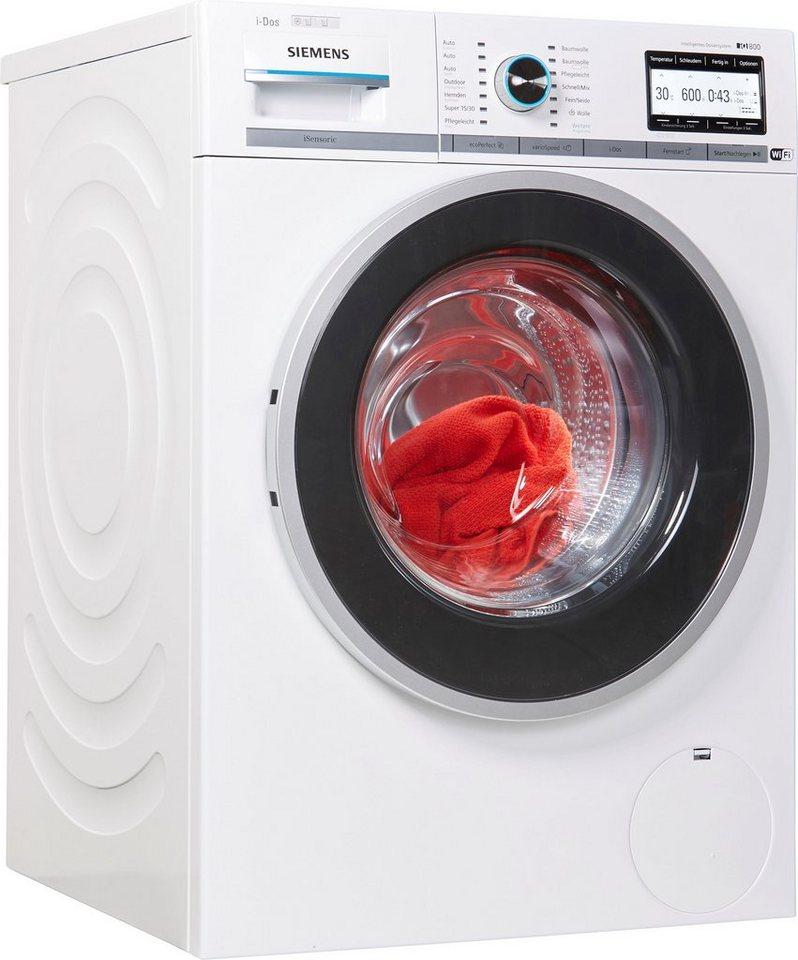 SIEMENS Waschmaschine iQ800 WM6YH842, 9 kg, 1600 U/Min