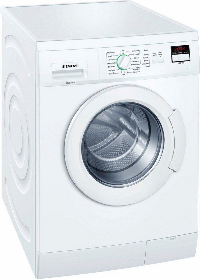 SIEMENS Waschmaschine WM14E220, 7 kg, 1400 U/Min, unterbaufähig