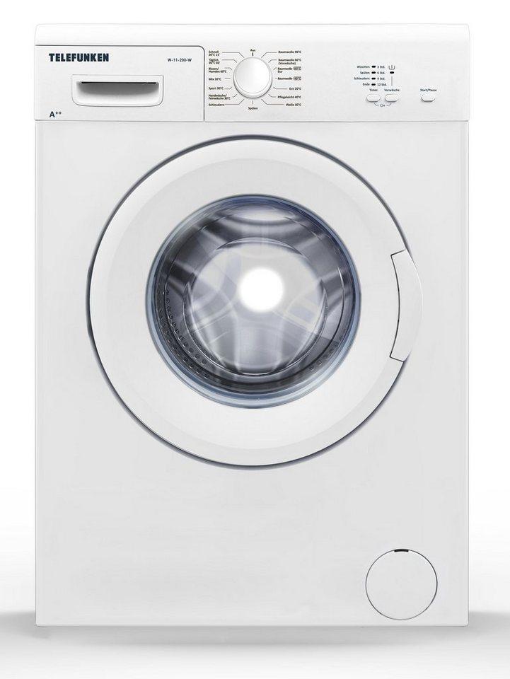 Telefunken Waschmaschine Frontlader (6 kg / A++ / weiss) »W-11-200-W«