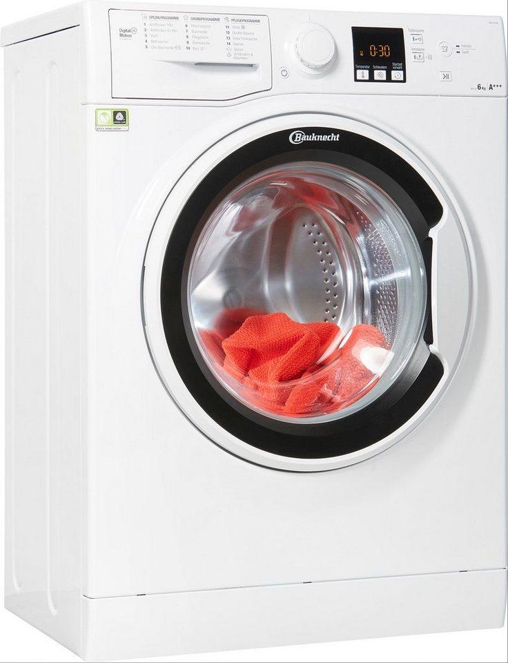 BAUKNECHT Waschmaschine WM 62 SLIM, 6 kg, 1200 U/Min, nur 42,5 cm tief