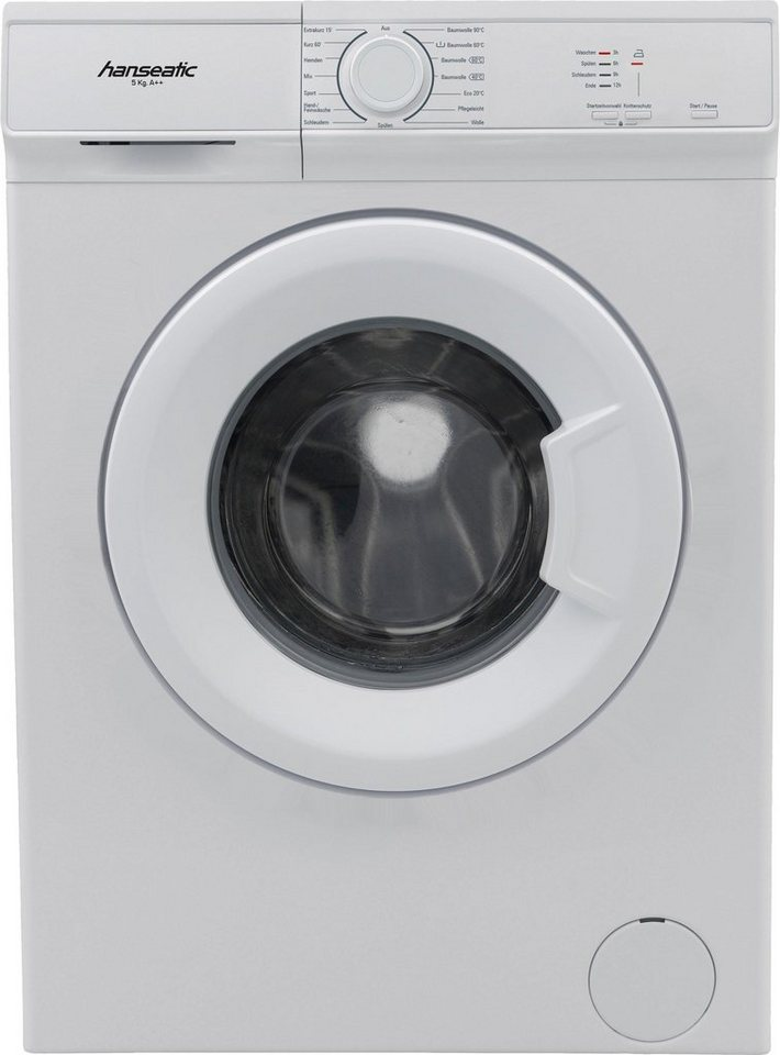 Hanseatic Waschmaschine HWM510A2, 5 kg, 1000 U/Min