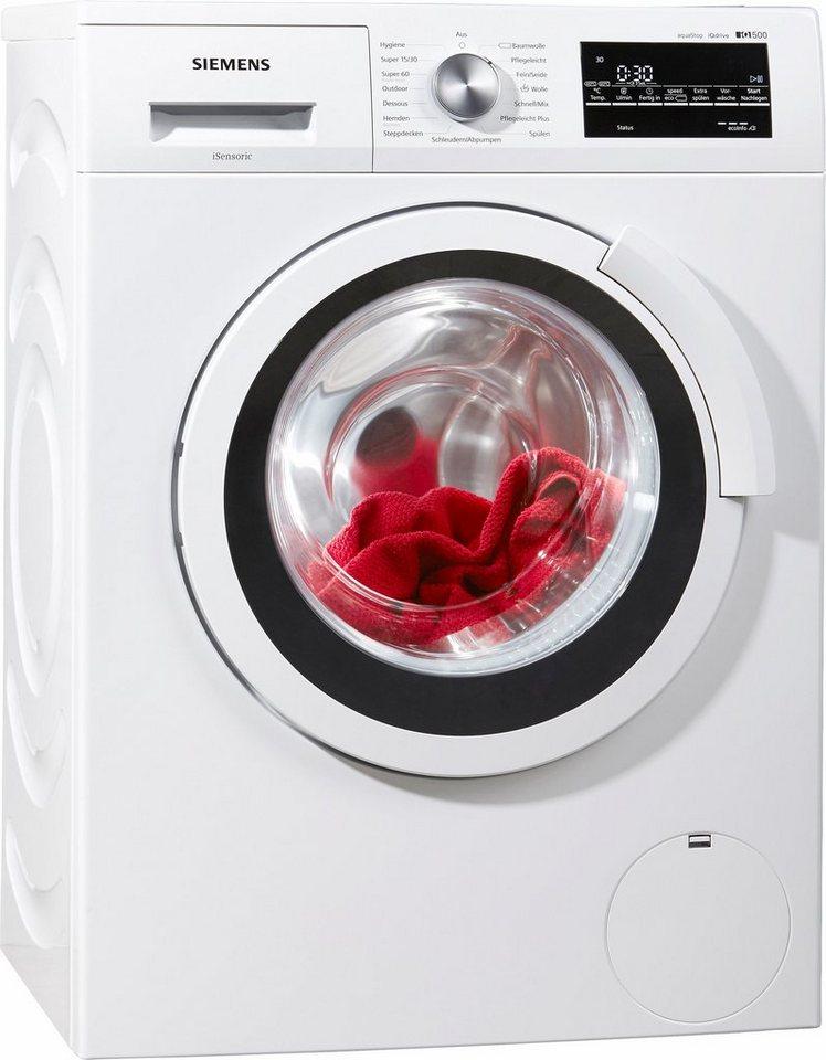 SIEMENS Waschmaschine iQ500 WS12T440, 6,5 kg, 1200 U/Min