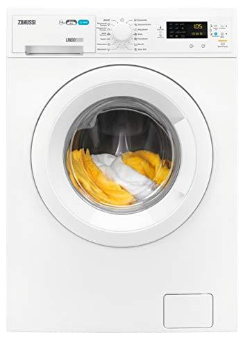 Zanussi ZWD71663W Waschtrockner Frontlader / Waschmaschine (7 kg) mit Trockner (4 kg) / weiß / sparsamer Waschautomat und Wäschetrockner / Material- und Mengenautomatik / 952,0 kWh/Jahr