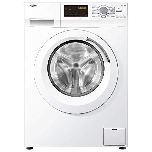 Haier HW100-14636 Waschmaschine FL/A+++/220 kWh/Jahr/1400 UpM/10 kg/Aqua Protect Schlauch/weiß