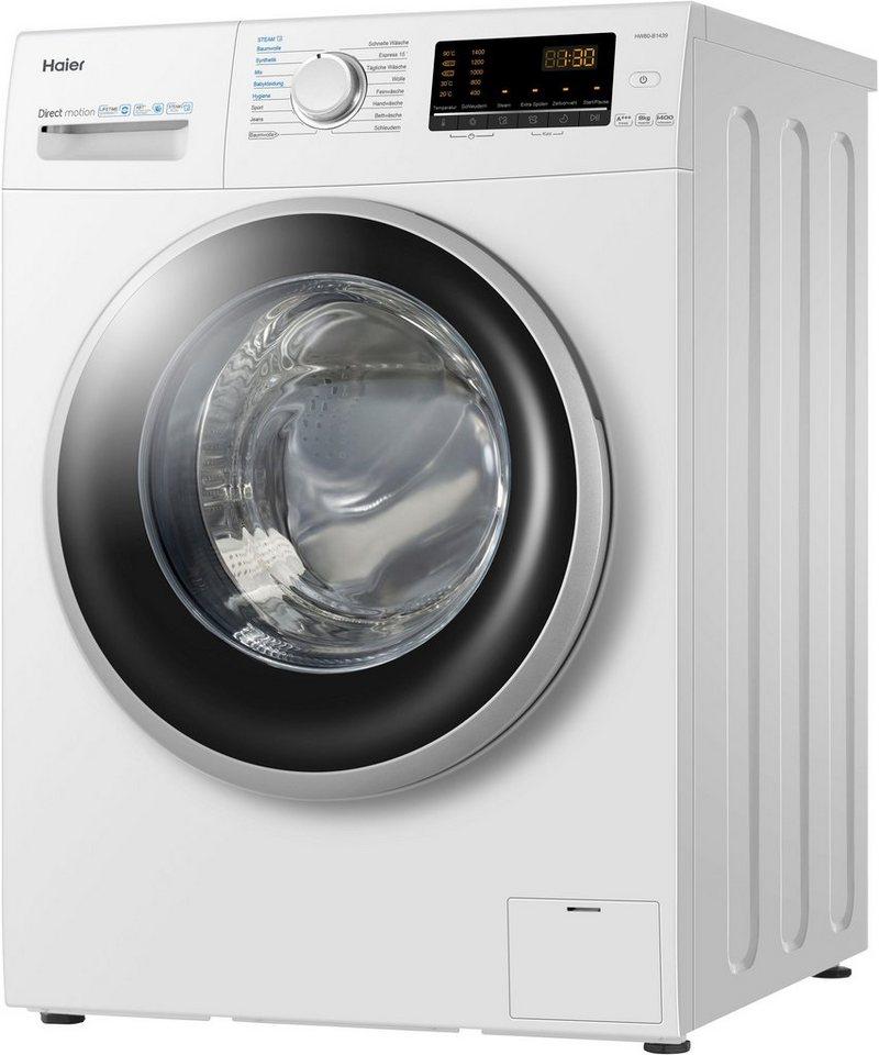 Haier Waschmaschine HW80-B1439, 8 kg, 1400 U/Min